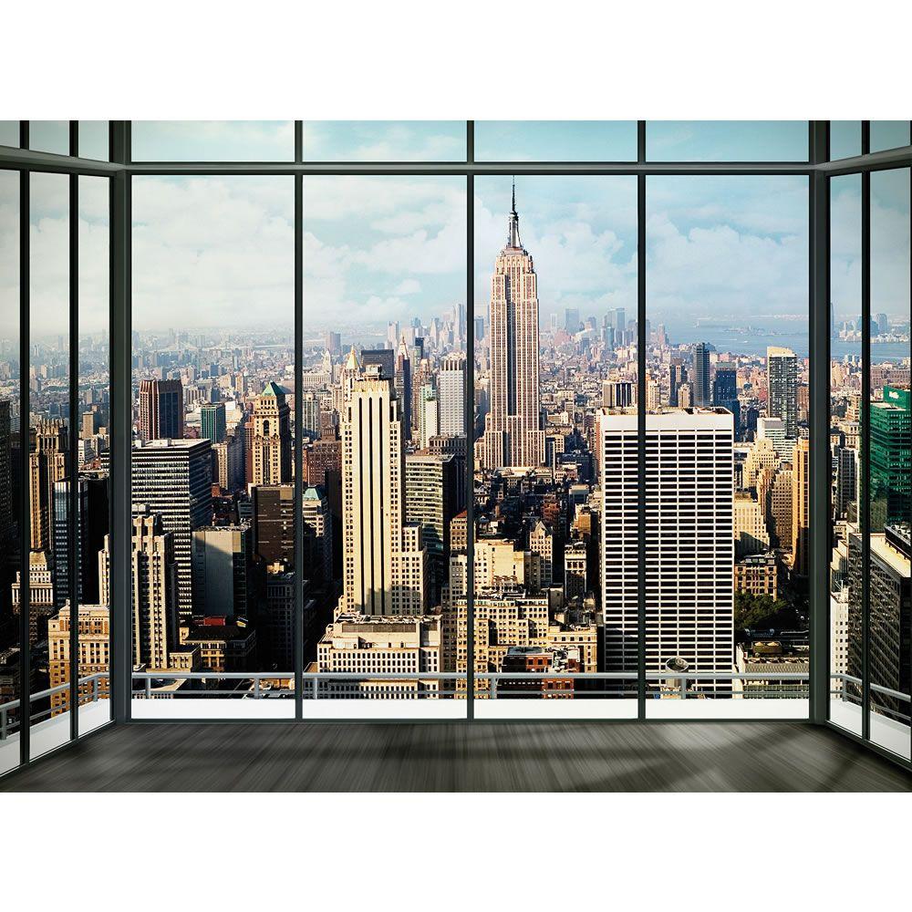 New York Skyline Window Wallpaper Mural ...