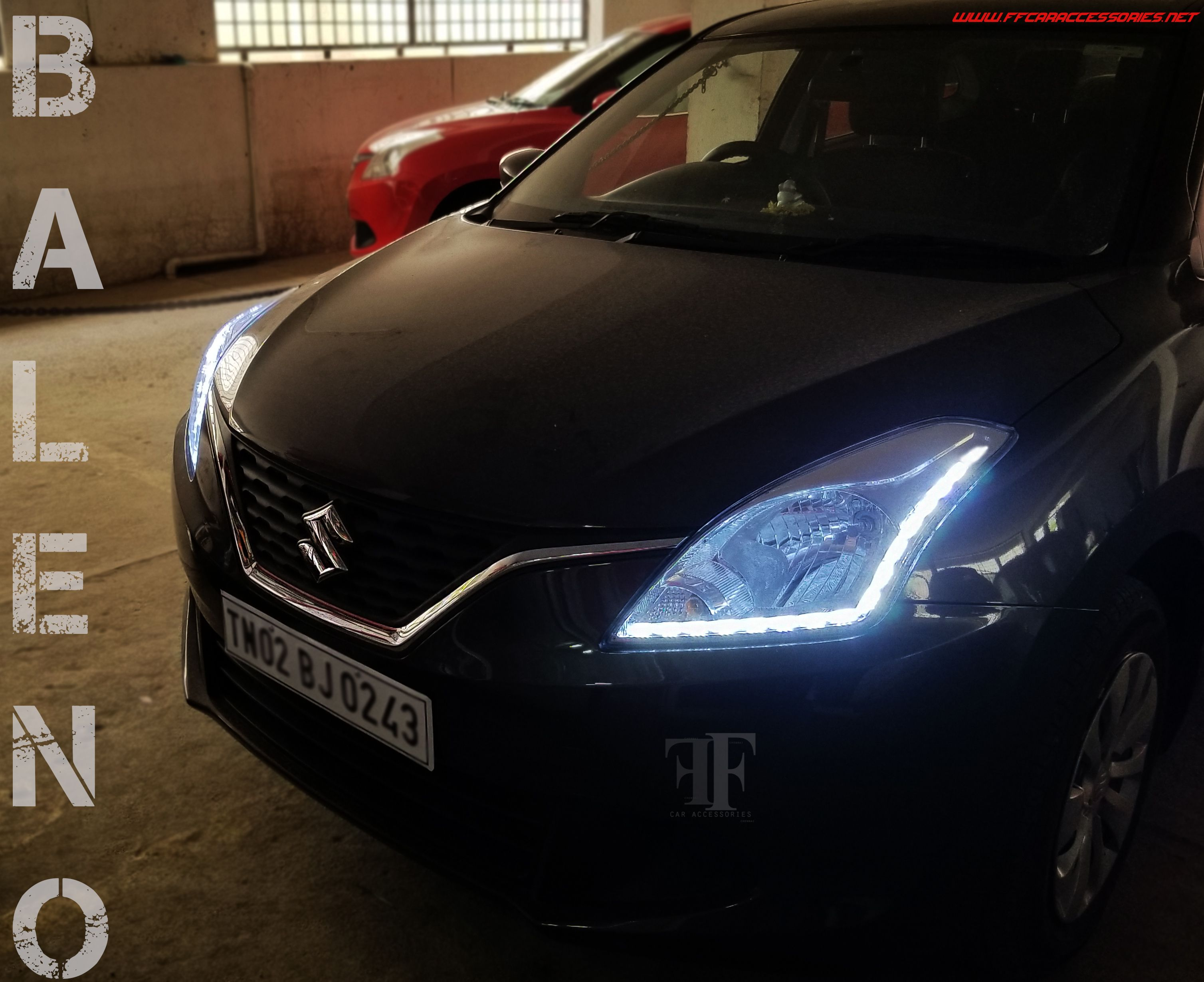 Drl Customised In Head Lamp For Nexa Baleno Day Time Running Durable Peugeot 206 Silver Series Car Body Cover Selimut Mobil Seat Covers Seats