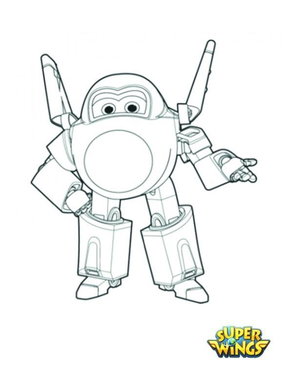 Super Wings Coloringpage Jerome2 Desenhos Colorir Pintar Imprimir