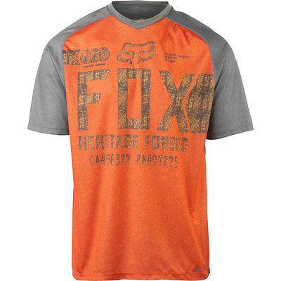 39918fe1a Fox Racing 2015 Men s Indicator Short Sleeve Mountain Biking Jersey - 17459  (Charcoal Orange - S)