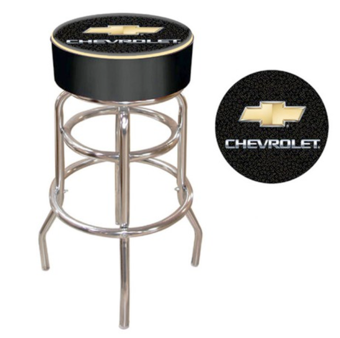 innovative design d464a a6246 Chevy Bar Stool | Wishes For The Man Cave | Padded bar ...