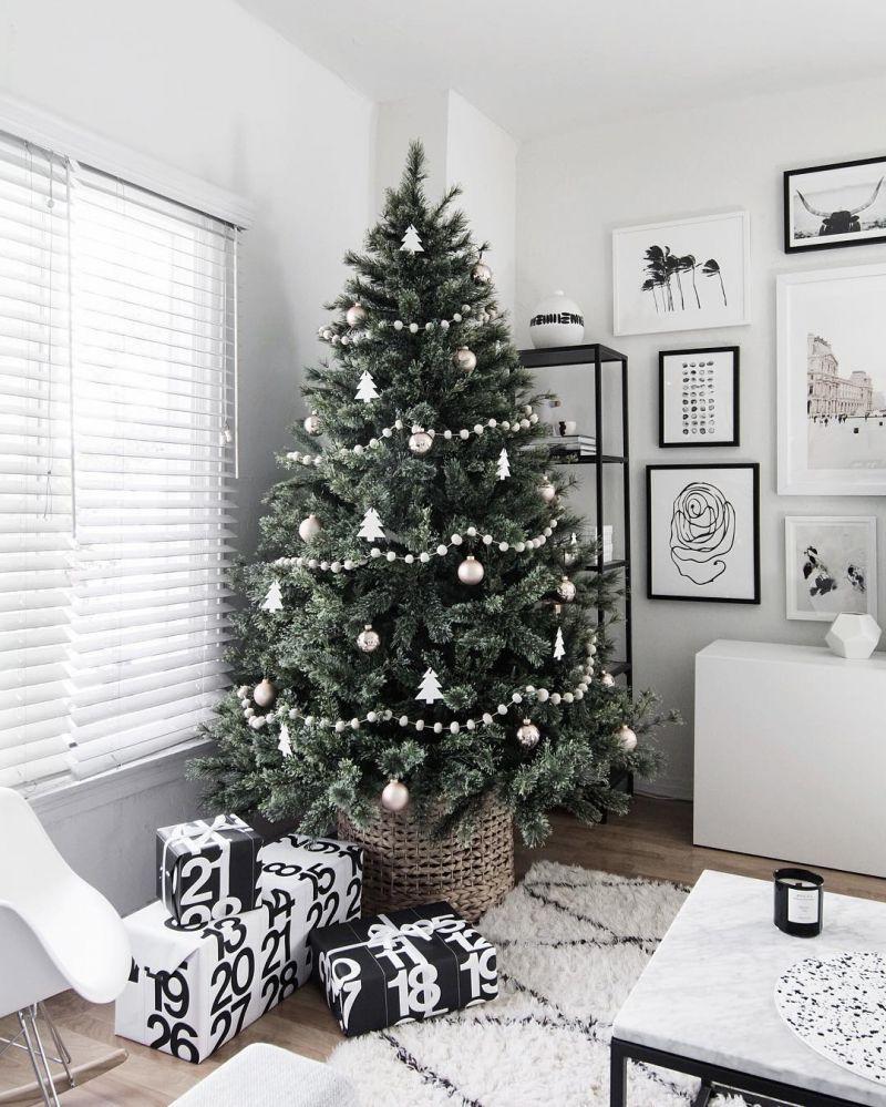 Our Favorite 2016 Festive Decor Under 100 The Everygirl Scandinavian Christmas Trees Scandinavian Christmas Decorations Christmas Tree Inspiration
