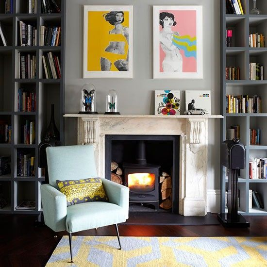 Living room storage built in shelves in alcove home ideas