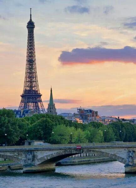 Beautiful Paris and Eiffel Tower