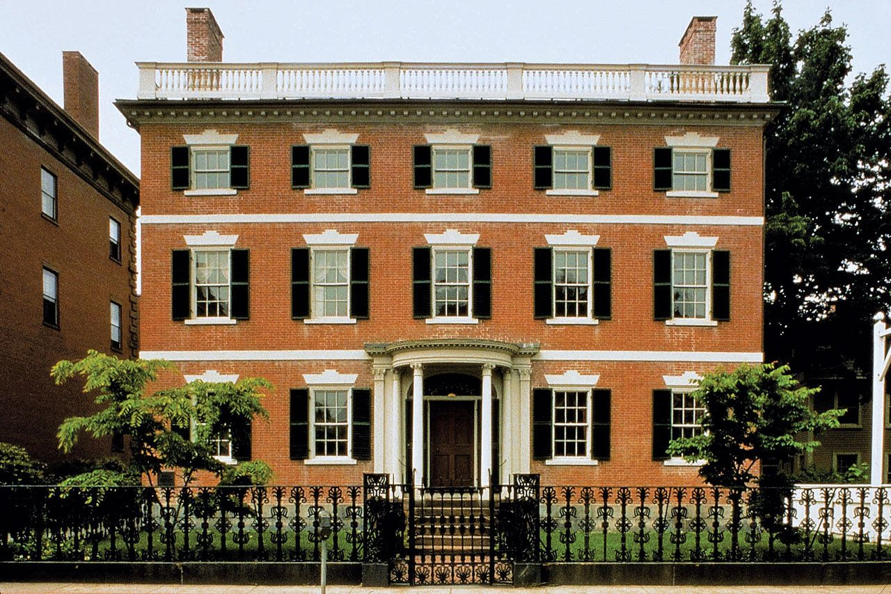 Gardner Pingree House in Salem MA was built ca. 1805. It is a part ...