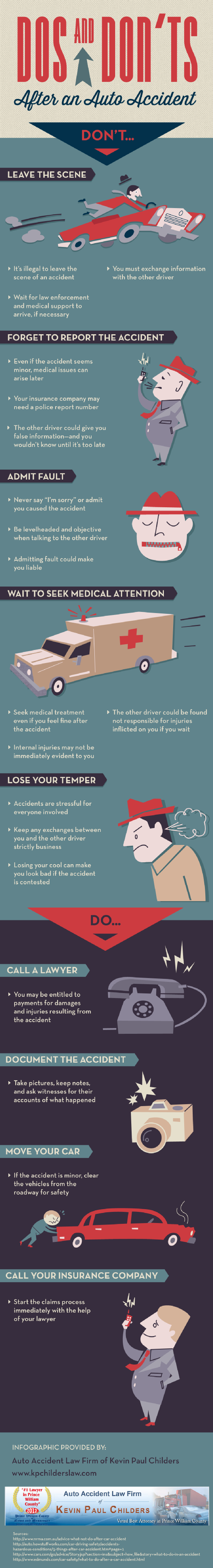 Dos And Don Ts After An Auto Accident Infographic Car Accident Car Facts Car Insurance Tips