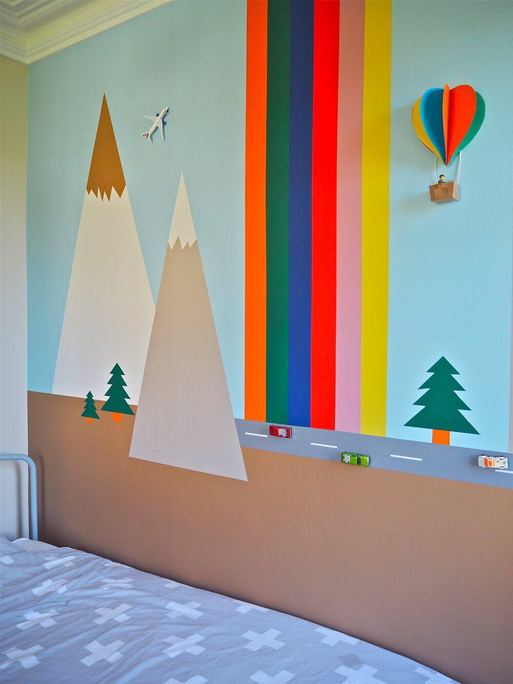 Child S Bedroom 3d Wall Mural Diy In 2020 Wall Murals Diy Kids Wall Murals Murals For Kids