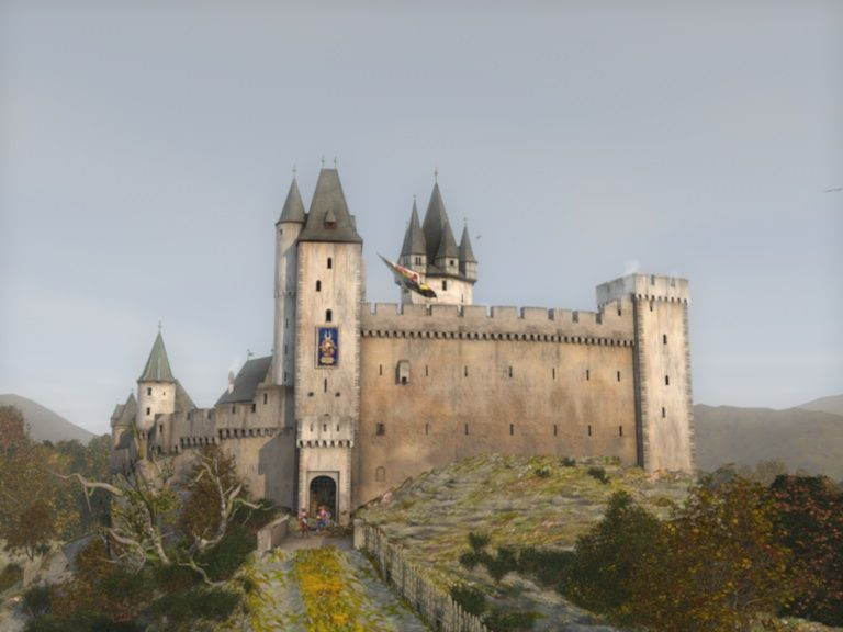 Rendering Of The Castle Hohenstein In The Taunus As It Looked In The Middle Of The 15th Century Shield Wall Burg Festungen Mittelalter