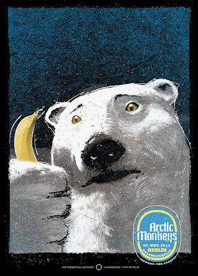Arctic Monkeys Berlin Poster by Lars Krause