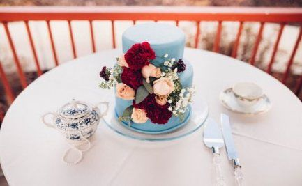 Wedding Cakes Blue Burgundy 28 Trendy Ideas