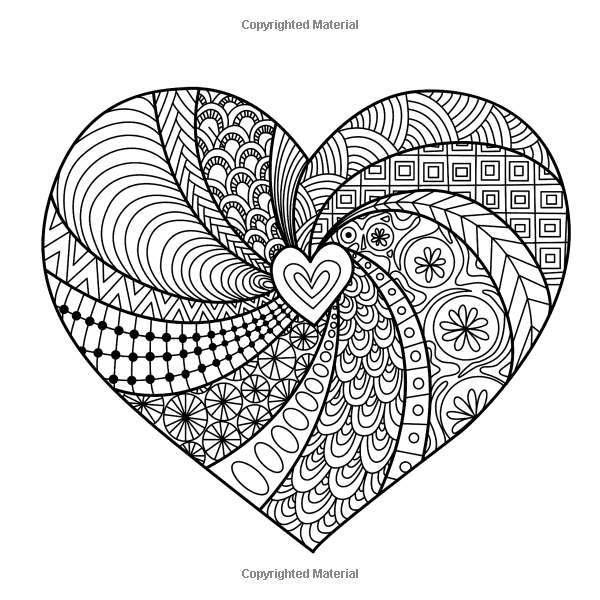The Meaning of Love Adult Coloring Book ... | Heart ...