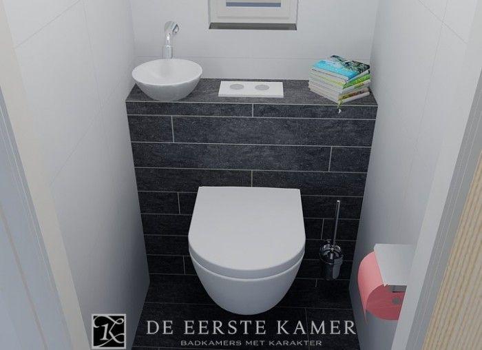 De eerste kamer ruimtebesparend fonteintje in dit kleine toilet