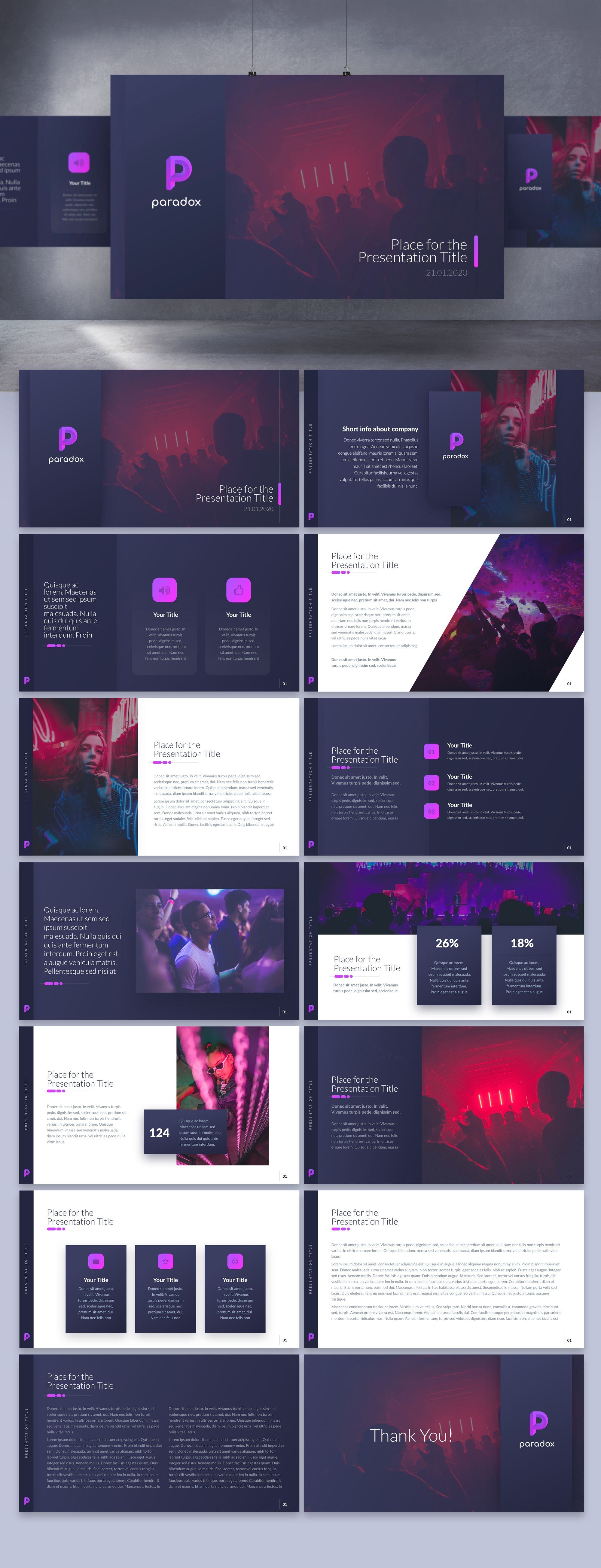 Cool, sexy nightclub app needs deck for pitching to high-profile individuals. app designs attached. | PowerPoint template contest