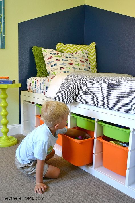 Diy Twin Platform Bed With Storage Ikea Hack Brothers