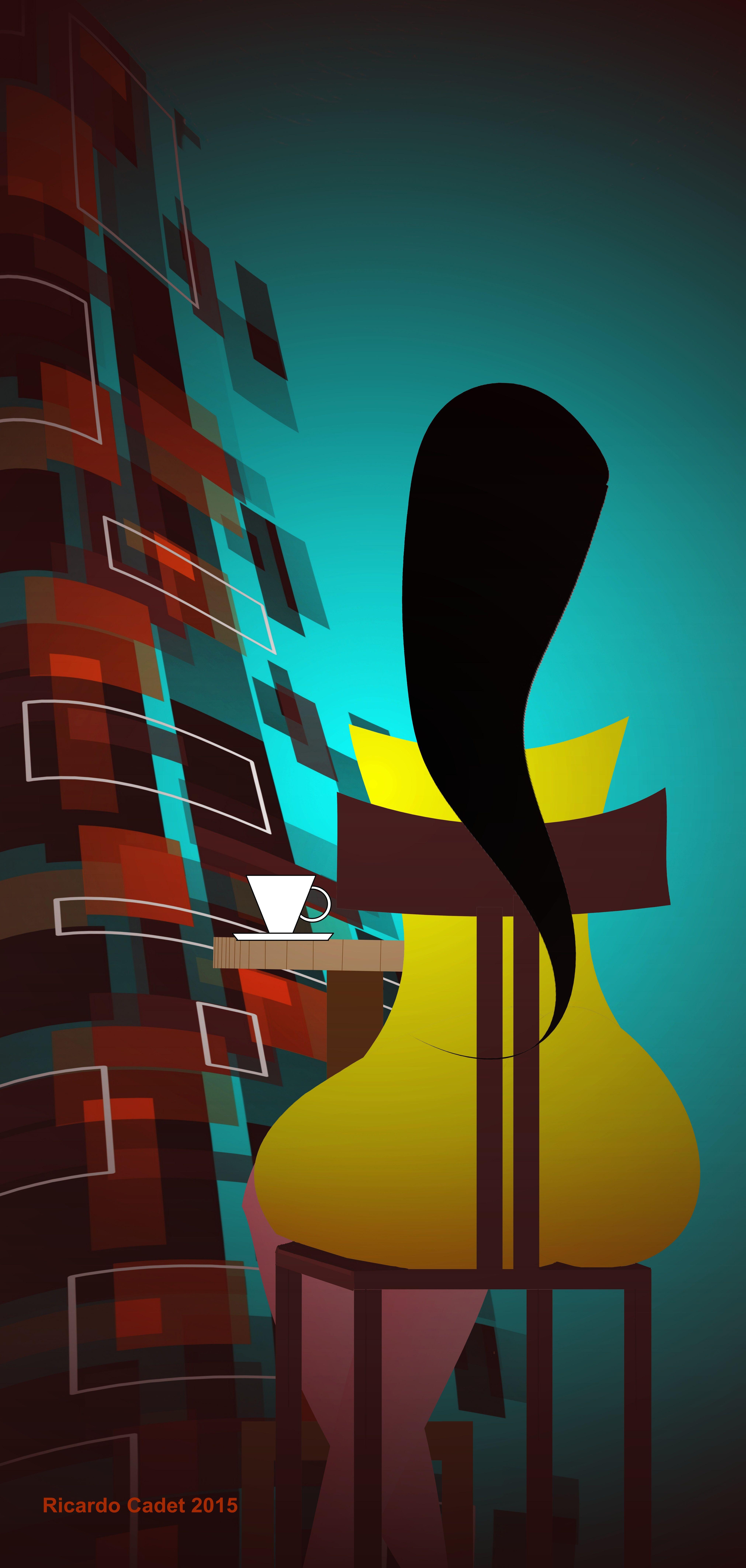 Atardecer en el café con la chica del vestido amarillo  #arte #artecontemporáneo #diseño #desing #art #ilustracion #artedigital #ilustration #RicardoCadet #hechoenVenezuela #madeinVenezuela