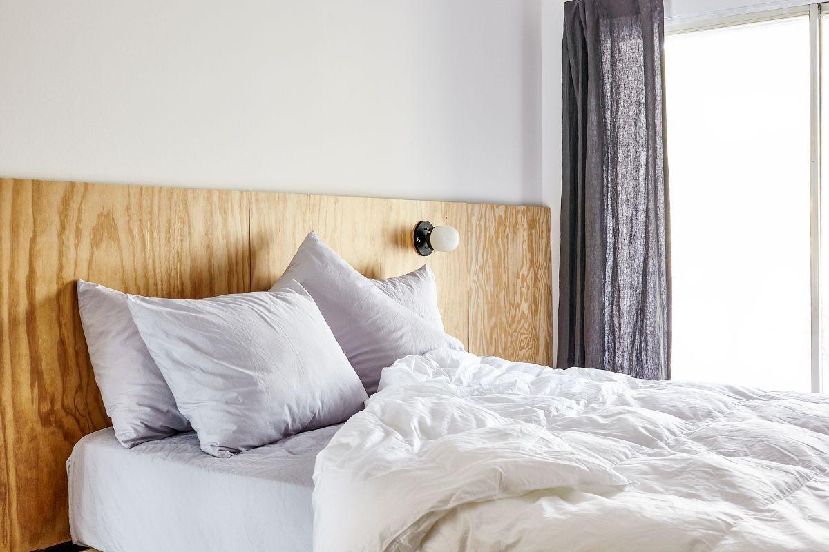 Bed bedroom plywood headboard modern dream house pinterest