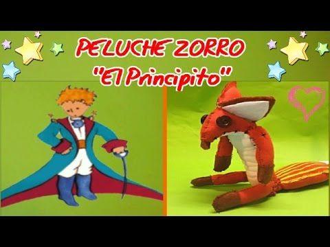 """DIY.Peluche Zorro de """"El  Principito"""". - YouTube"""