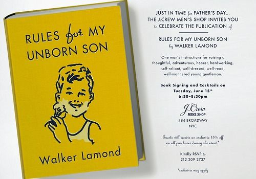 30 rules for my son