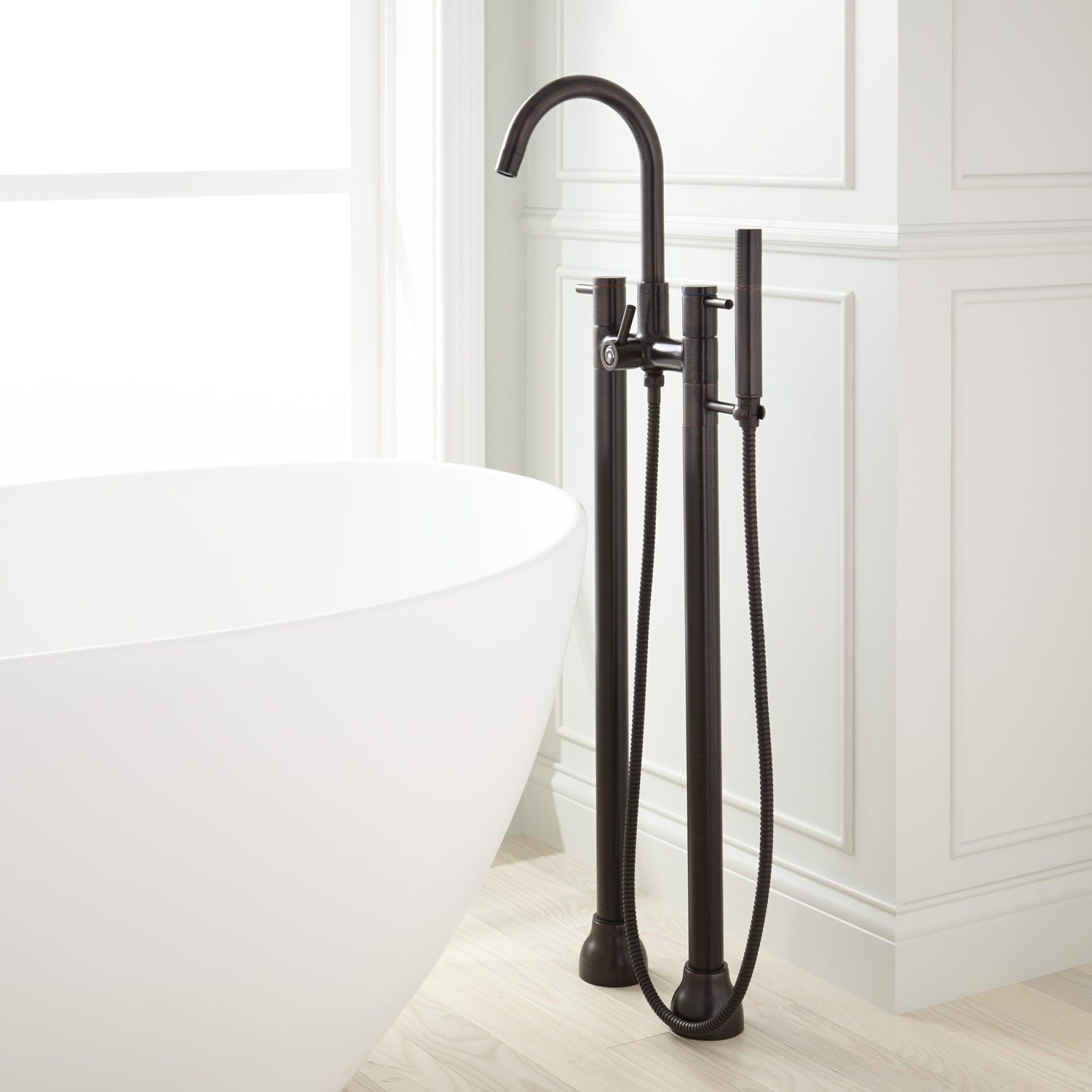 Tolovana Freestanding Tub Faucet with Hand Shower | Freestanding tub ...