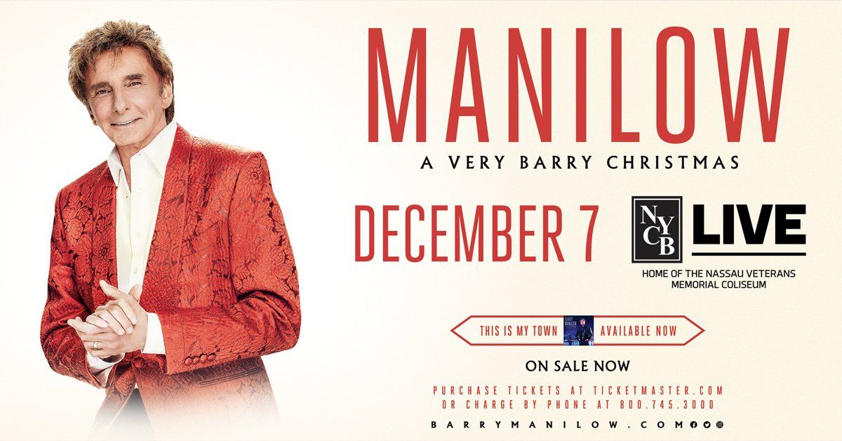 Manilow A Very Barry Christmas Ad,. Nassau Coliseum December 7th ...