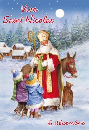 Carte Illustree De Saint Nicolas Avec Images Cartes Dessin