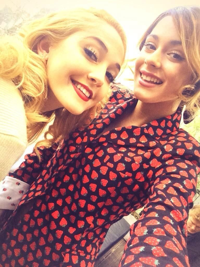 Mercedes Lambre and Martina Stoessel