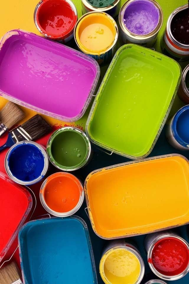 Paints #colors #rainbow