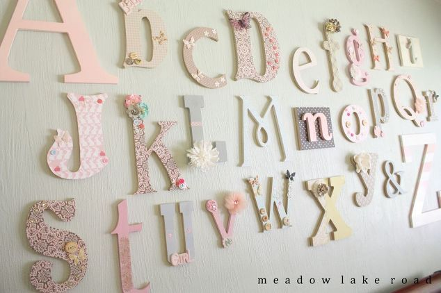 Nursery Alphabet Wall A Baby Shower Activity Bedroom Ideas