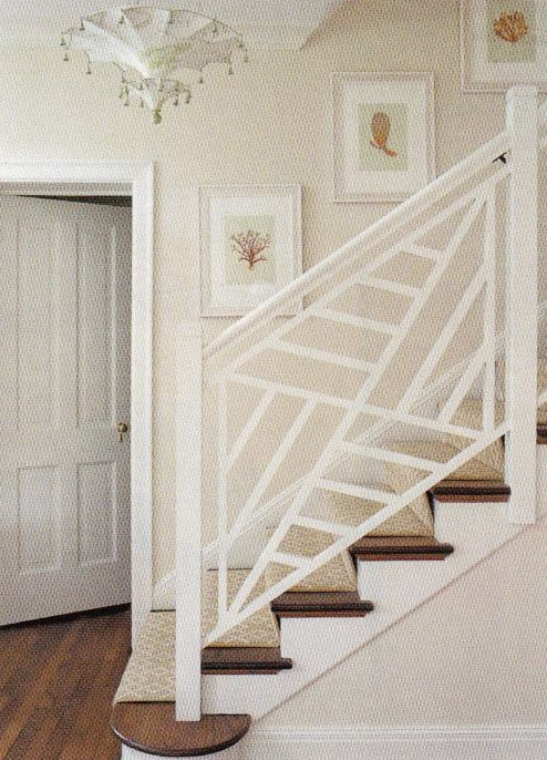Chic Stair Railing - The English Room