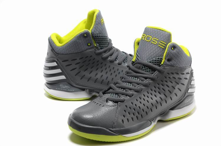 New Adidas adiZero Derrick Rose 3.0 Mens Basketball Shoes Grey Green White d3dcbbd3bc4a