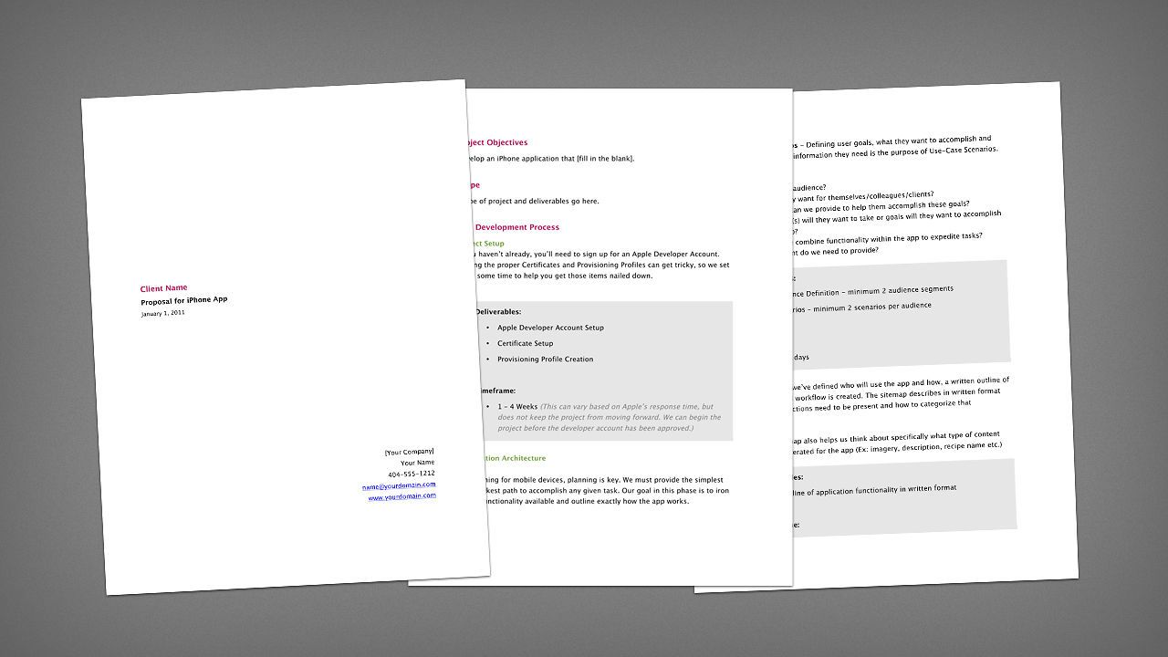 This free app development proposal template is