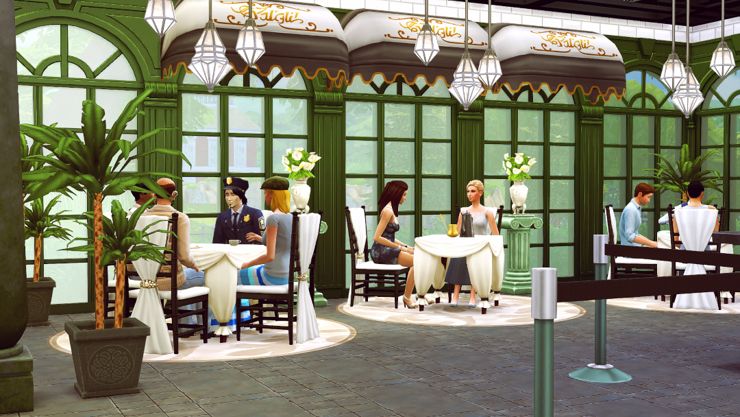 Happy Spring, all! I whipped up this little cafe for a few reasons: a) I've been wanting to do a surprise Follower's Gift for awhile; b) I've been itching to do something with the Romantic Garden SP...