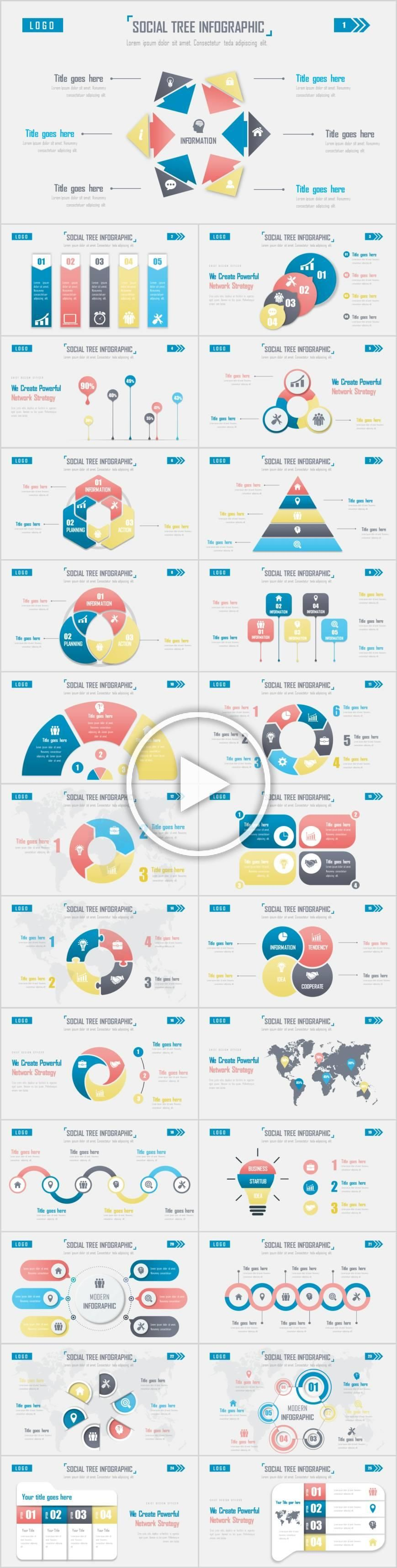 Simple infographics tree PowerPoint template  powerpoint meetingCorporate cultureproduct marketingshoppingcolorfulBuyPricemodernspecialsupercolorful background Simple inf...