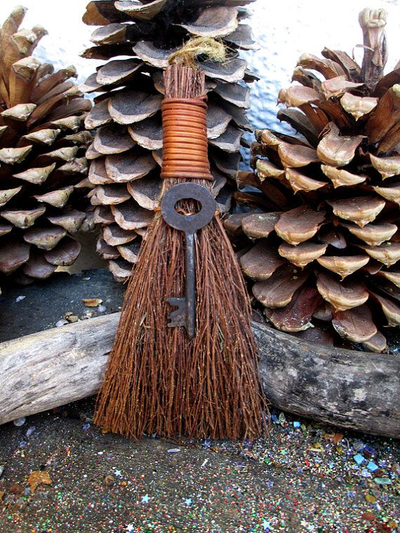 Rita's Skeleton Key Hoodoo Cinnamon Broom - ONLY ONE New Beginnings