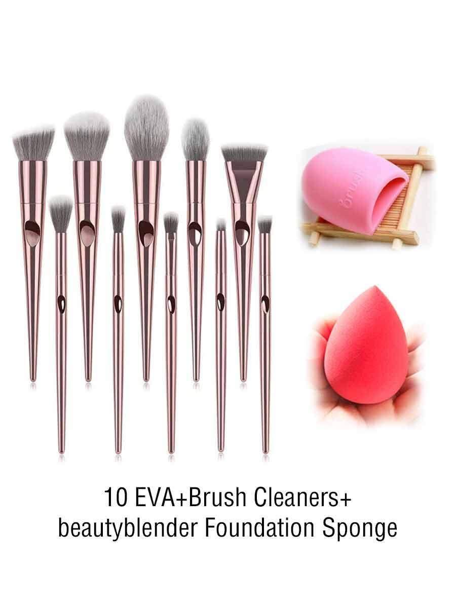 Photo of Cosmetic tool set 10 pcs. Thumb press design make-up brush – cosmetics factory …