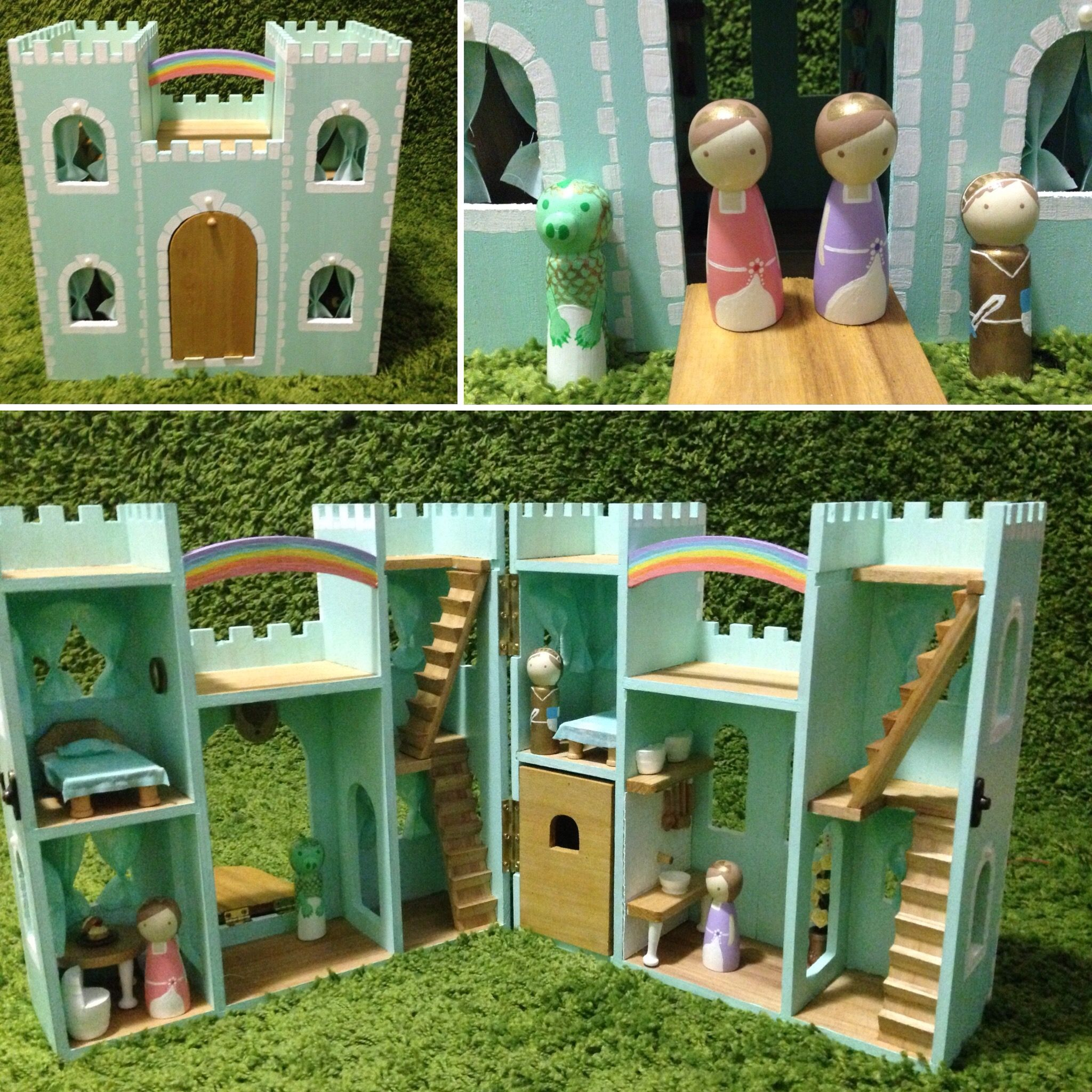 Or sleeping bags clothes pegs optional fairy lights optional - Finished My Dollhouse Castle And Peg People