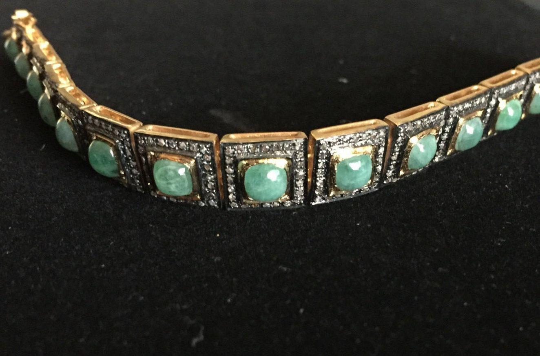 Unisex art deco inch vintage stunning ct diamond ct emerald