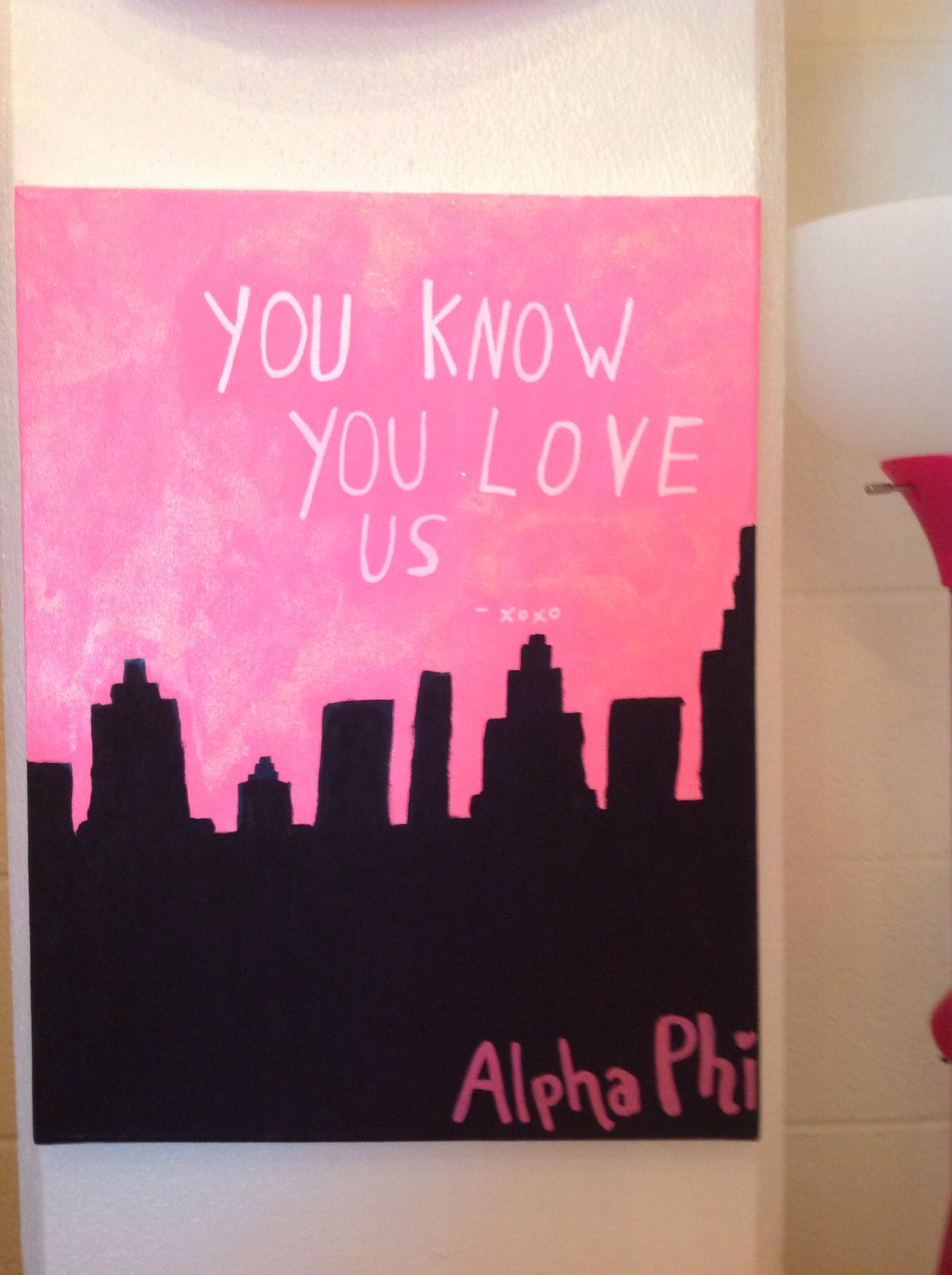 You know you do #alphaphi #diy #gossipgirl #crafting