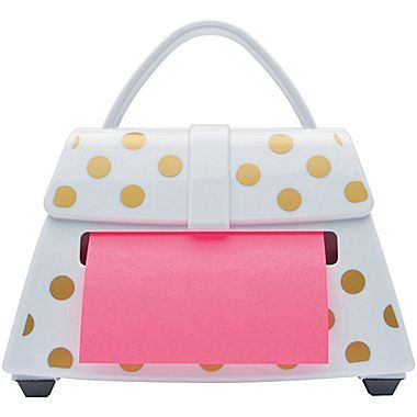 Post It Pop Up Notes Dispenser For 3 X 3 Notes Purse Shape White