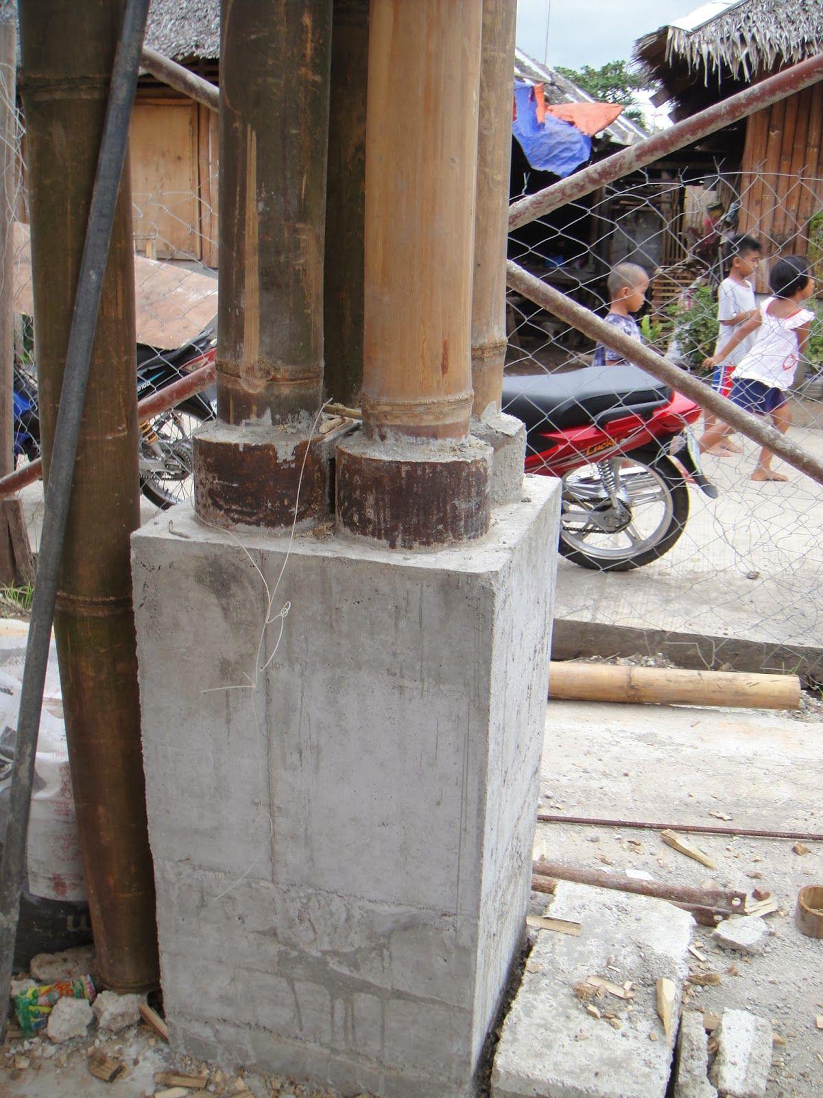 Bilderesultat For Bamboo Concrete Columns Bamboo Details