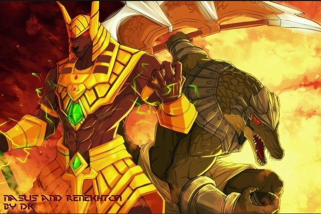 chillout nasus and renekton lol stuff pinterest