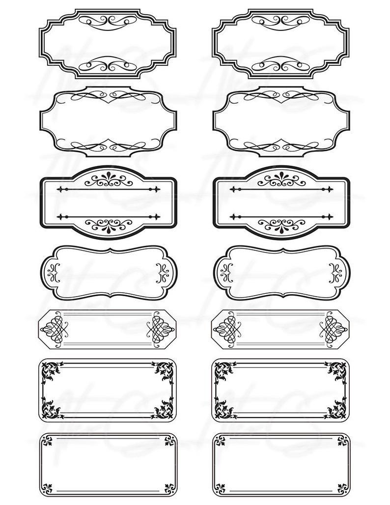 15 Printable Blank Vintage Apothecary Labels Set Editable Pdf Scrapbooking Ephemera Journal Junk Collage Sheet Digital Download In 2021 Vintage Labels Printables Labels Printables Free Apothecary Labels