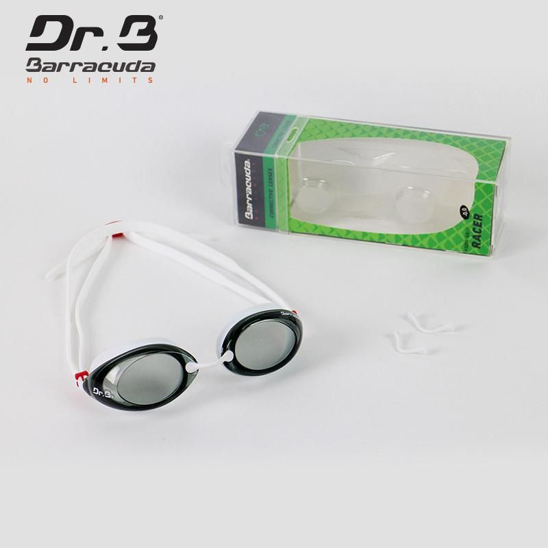d7ccf96afb Dr.B RACER Optical Swim Goggle  32295 (White) designed by Barracuda – High  quality prescription lenses with UV protection