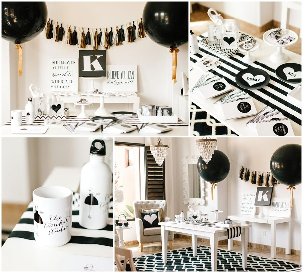 Black And White Party Dress Up Ideas Sweet 16 Party Party