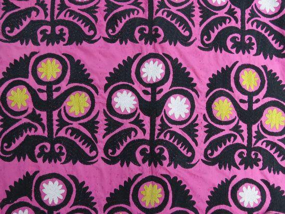 Vintage Uzbek Suzani Handmade Silk embroidery on the by EymenArt