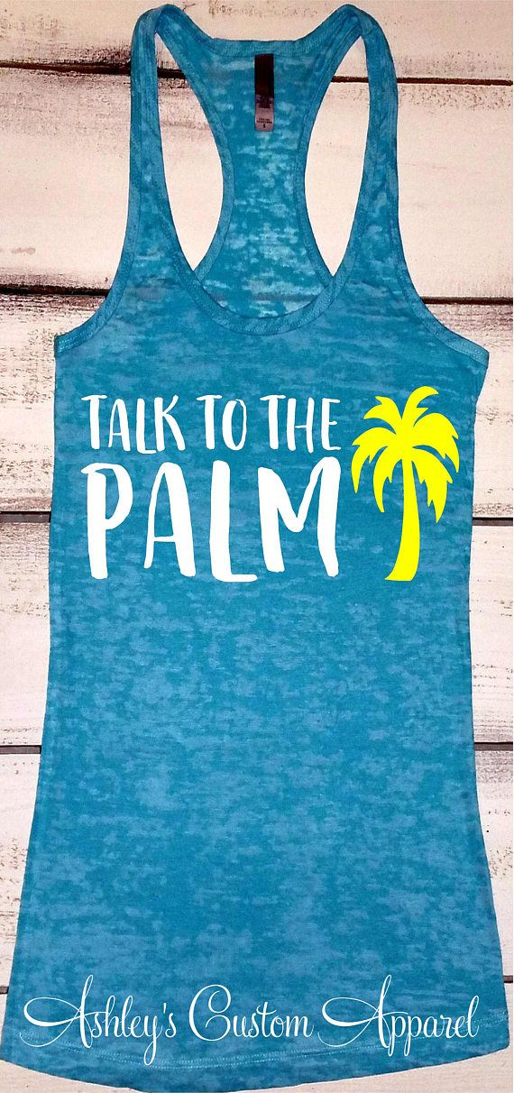 Beach Vacation Shirts Palm Tree Shirt Island Tank Top Cruise Shirts Funny Palm Tree Tank Beach Cover Up Summer Tank Tops Beach Bound Tshirt #beachvacationclothes