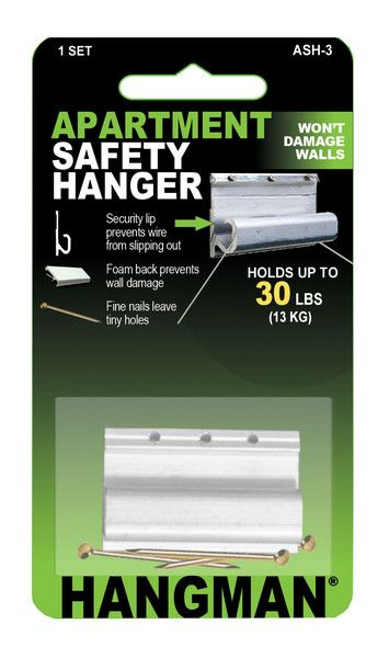 Apartment Safety Hanger Wall Saver Wire Hanger Hanging