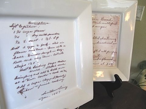 Wonderful idea. I have some of my Grandmas old recipe cards and I ...
