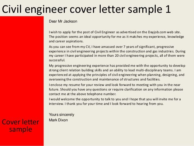 Engineering Sample Cover Lettervil Engineer Letter This The Left