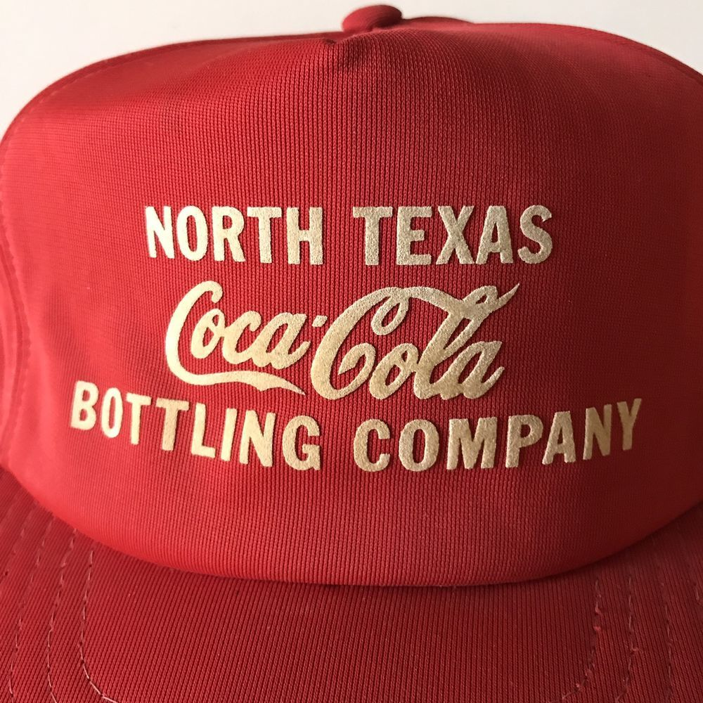 3f06756a28e Vtg Coca Cola North Texas Bottling Co Trucker Baseball Cap Hat  CocaCola